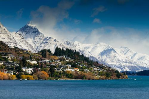 Looking at the Remarkables over Kelvin Heights, Queenstown