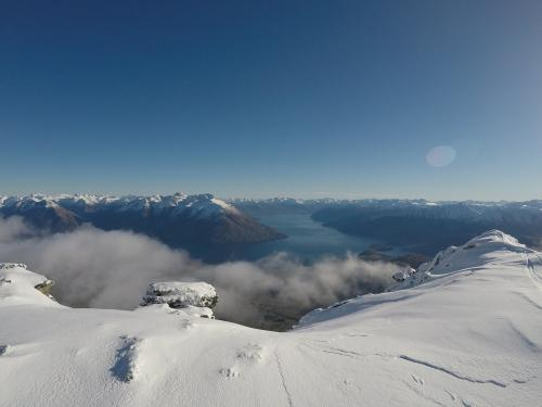 Top of Remarkables looking at Lake Wakatipu, Queenstown